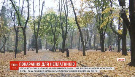 В Днепре неплательщики алиментов будут убирать парки