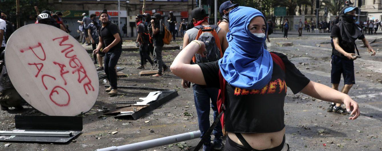 Новая волна протестов в Чили. Во время столкновений пострадали более 100 человек