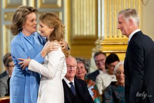 Ах, какие красавицы: королева Матильда и ее дочь - кронпринцесса Елизавета - на праздничном мероприятии в Брюсселе