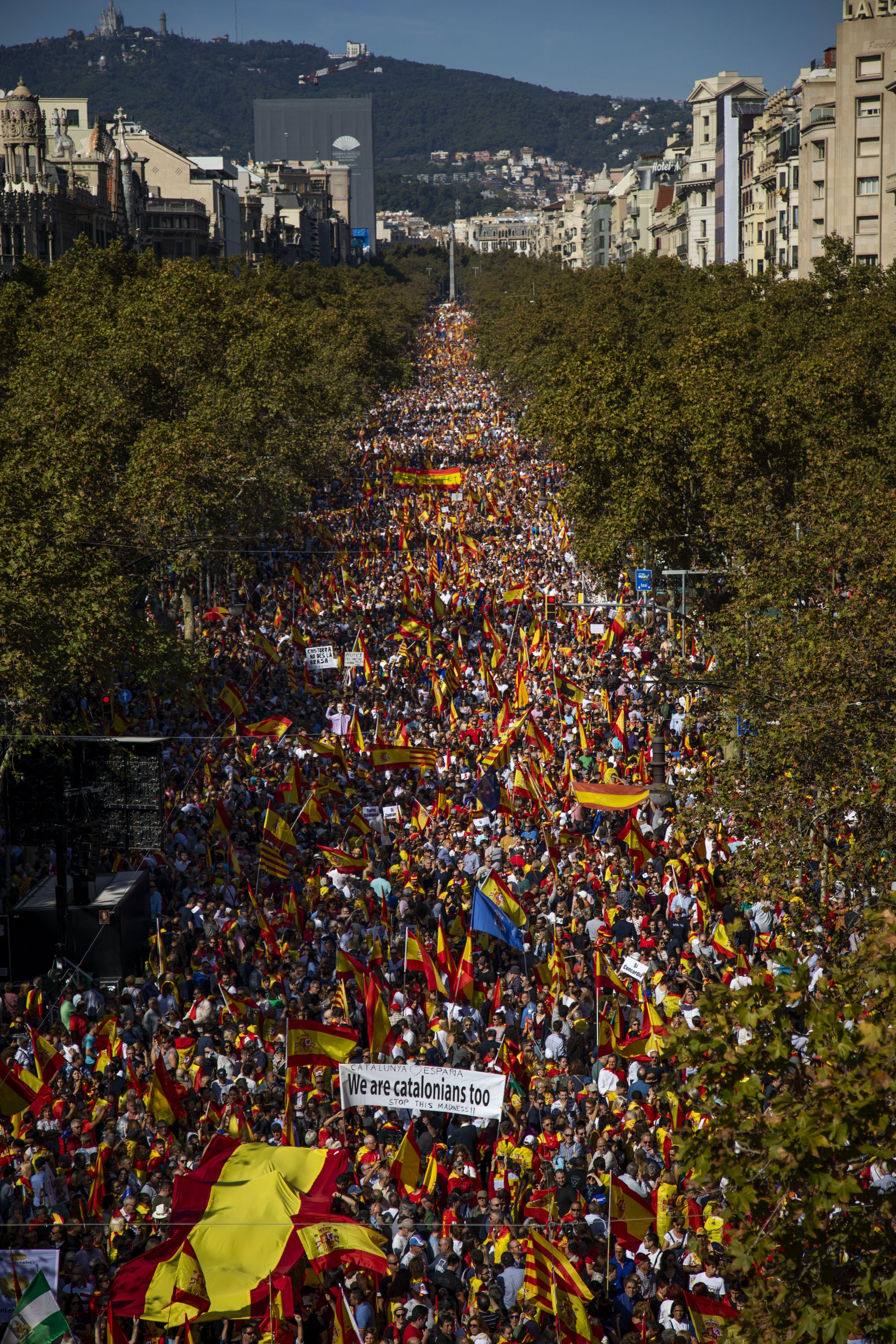 мітинг у Барселоні ПРОТИ незалежності Каталонії_1