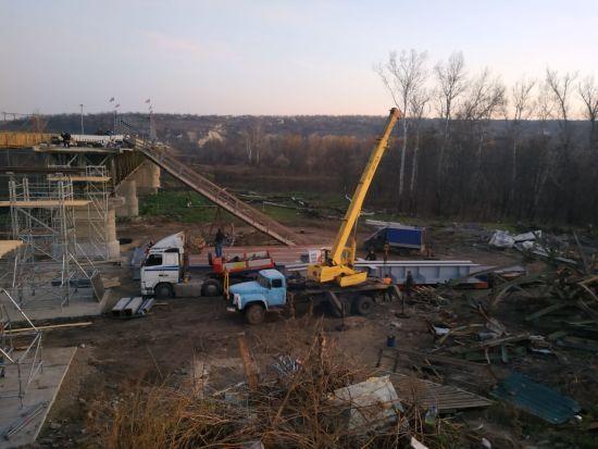 У штабі ООС показали фото з будівництва мосту в Станиці Луганській
