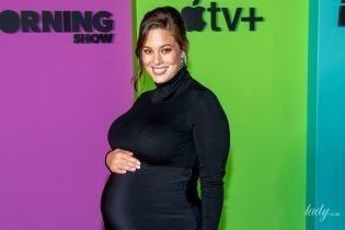 Скоро в роддом: беременная Эшли Грэм вышла в свет в обтягивающем аутфите