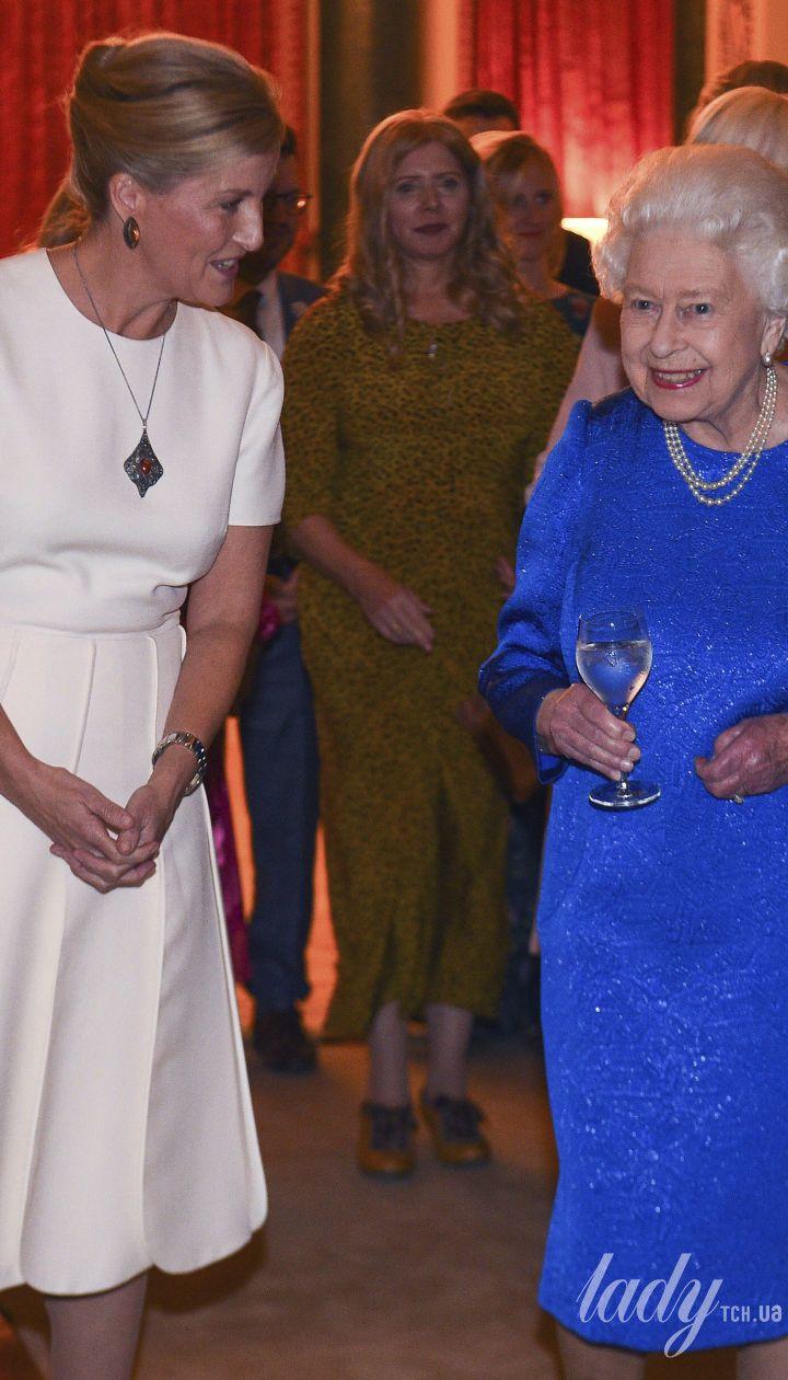 Графиня Уэссекская Софи и королева Елизавета II