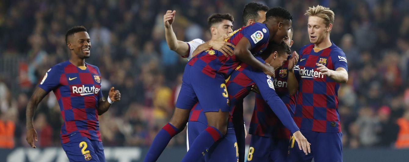 """""""Барселона"""" одержала эффектную победу над командой Лунина в Примере"""