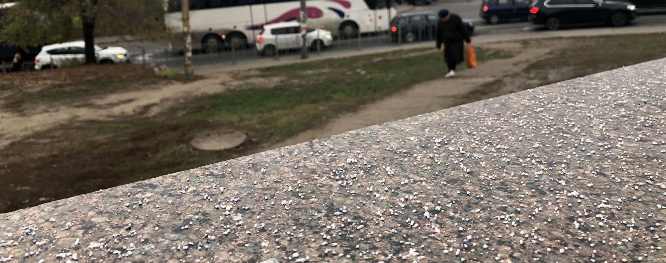Резкое похолодание накрыло Украину. В Киеве пошел снег