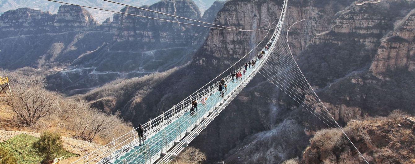 В китайской провинции Хебей закрыли 32 стеклянных моста