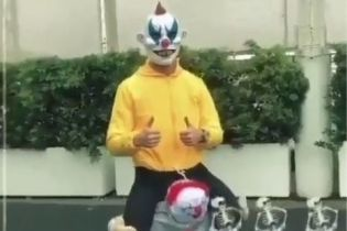 """Happy Halloween. Роналду прийшов на базу """"Ювентуса"""" у костюмі страхітливого клоуна"""