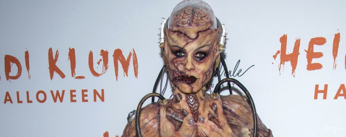 Королева Геловіну: Гайді Клум в образі кровожерливого зомбі затьмарила всіх на вечірці