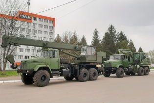 """Міноборони придбало автокран і екскаватор на базі """"КрАЗу"""""""