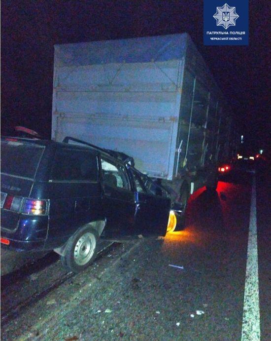 На Черкащині в моторошній ДТП загинуло двоє людей