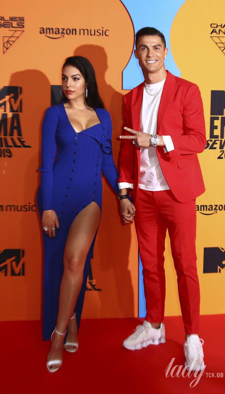 Джорджа Родрігес і Роналду на MTV European Awards
