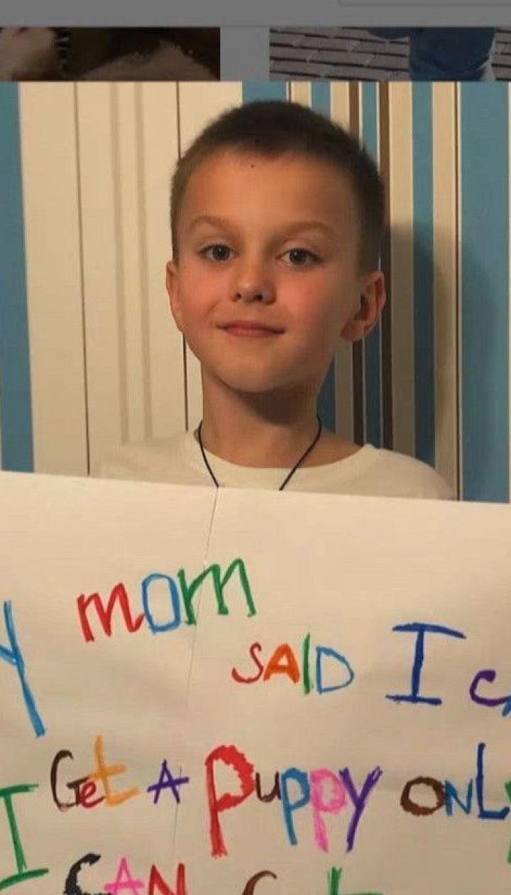 8-річний школяр зібрав мільйон лайків і Інтернеті, аби завести собаку