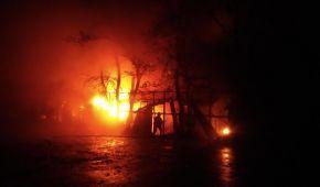 В Ровном в центральном парке горит ресторан – ГСЧС