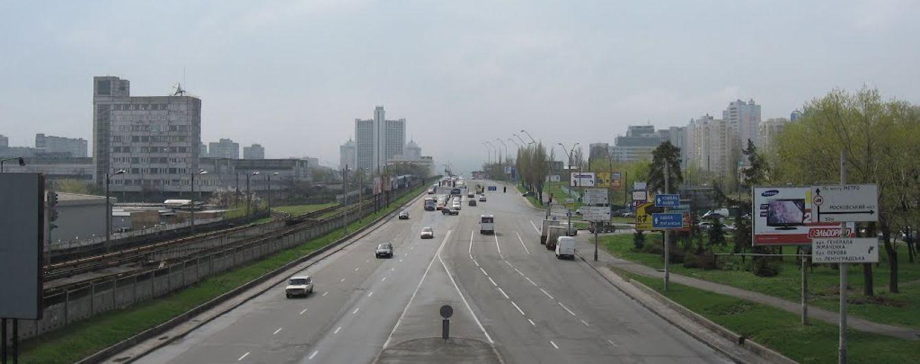 У Києві на тиждень частково перекрили Броварський проспект
