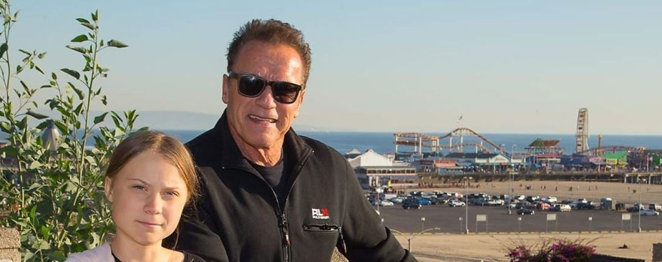 Шварценеггер провел время с Гретой Тунберг на калифорнийском побережье