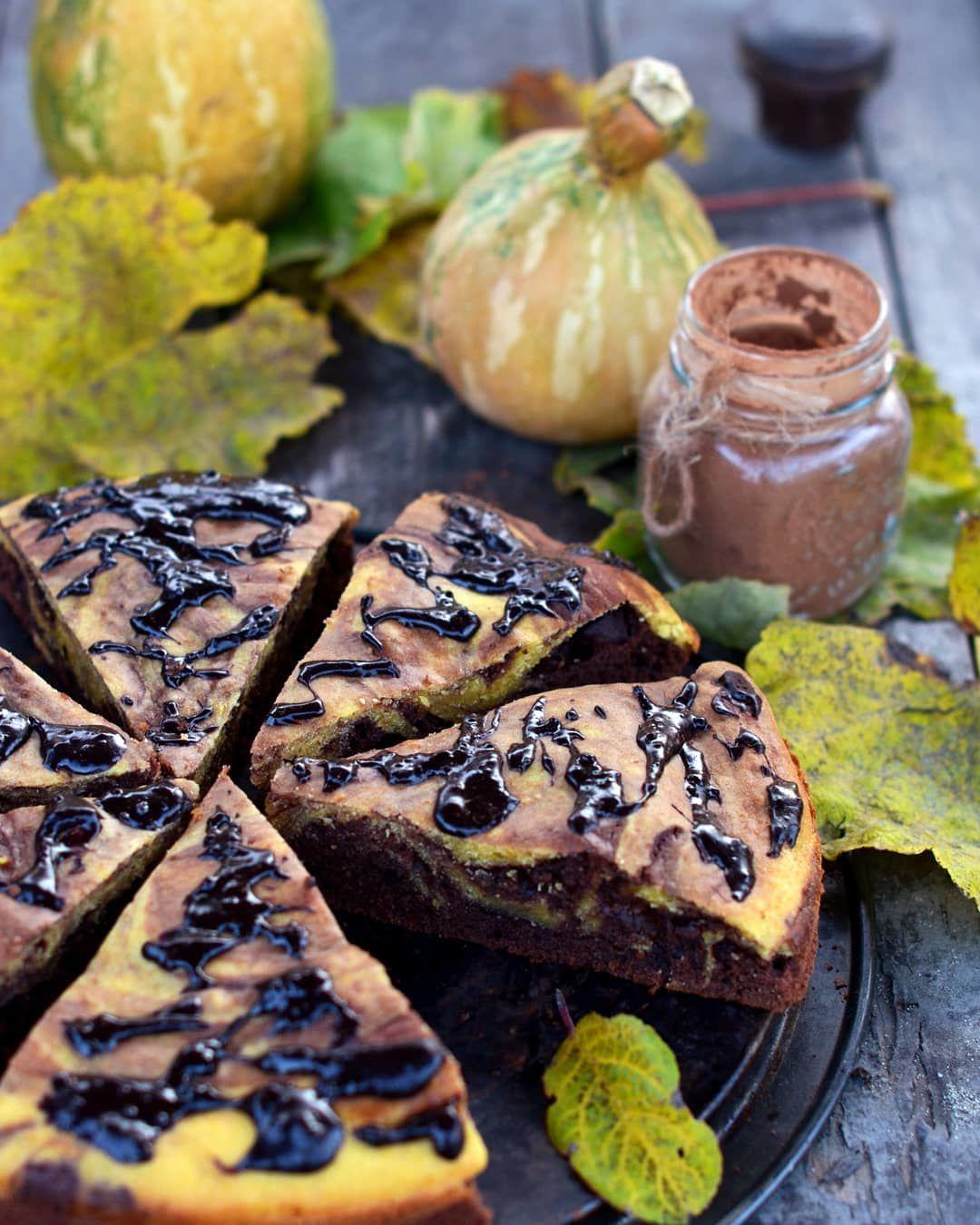 Шоколадно-гарбузовий пиріг, для блогів