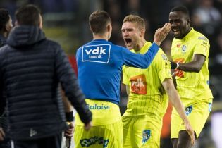 Двое украинцев попали в сборную тура в Чемпионате Бельгии