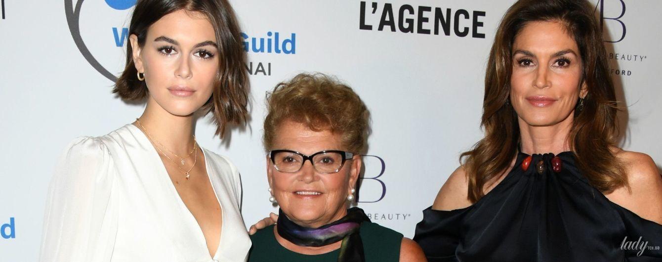 Три покоління красунь: Сінді Кроуфорд з мамою та донькою Каєю прийшли на вечірку
