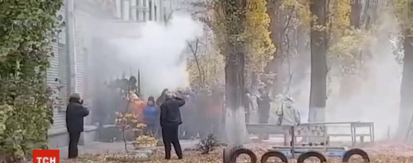 Столкновения под скандальным общежитием в Киеве: люди назвали свои требования к застройщику