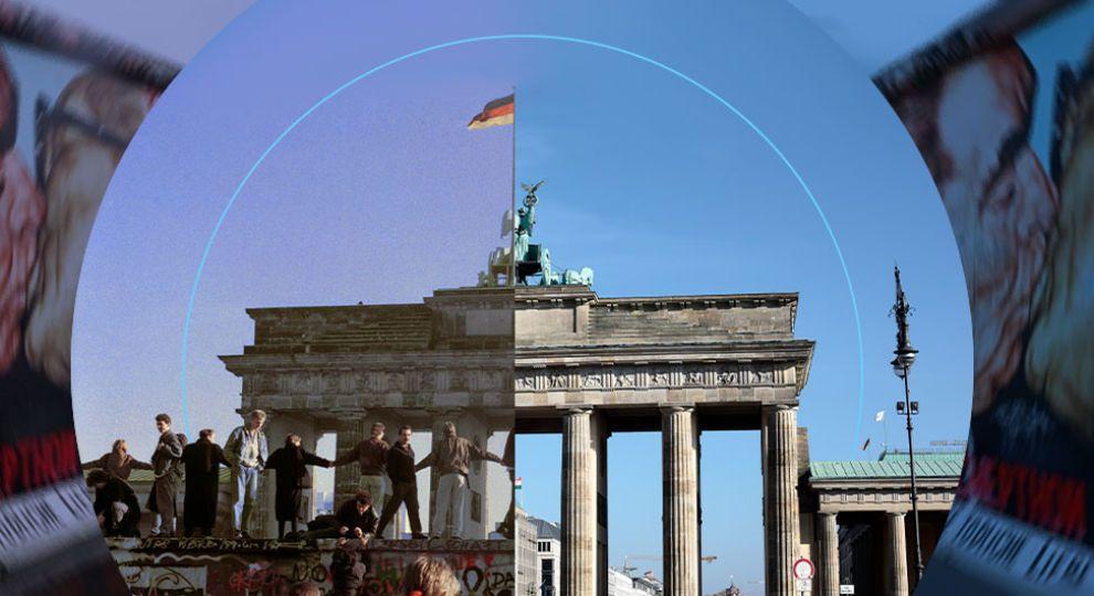 Берлинская стена упала 30 лет назад: как возродился город в фото до и после