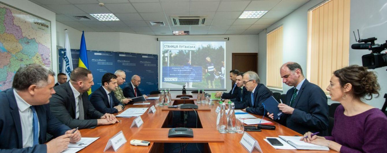 Зеленский встретился с главой СММ ОБСЕ и обсудил разведения войск на Донбассе
