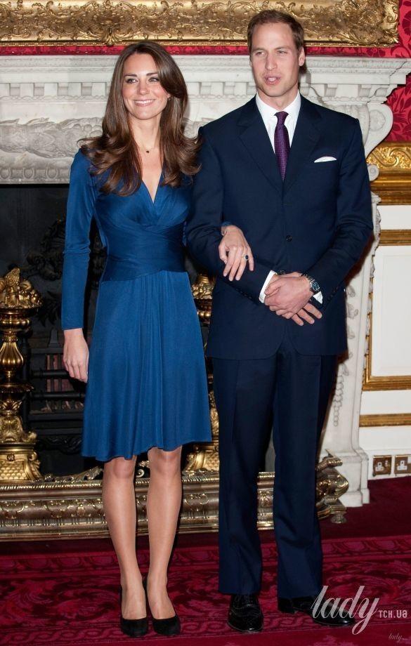 Герцогиня Кембриджская и принц Уильям, помолвка
