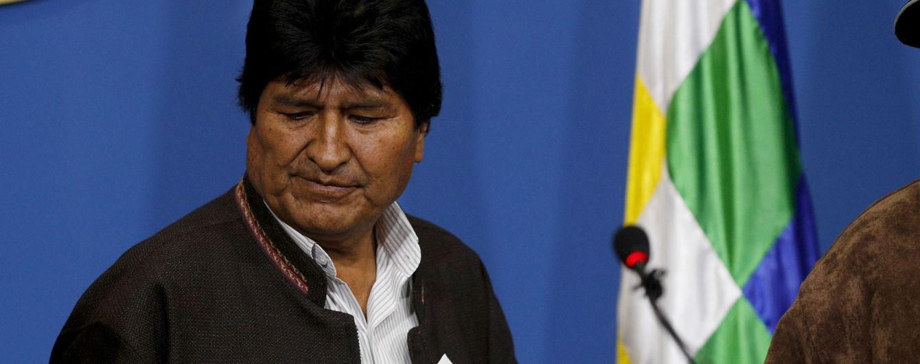 Президент Боливии подал в отставку после скандала с подтасовкой результатов выборов
