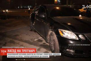 """Возле метро """"Осокорки"""" машина на тротуаре насмерть сбила 20-летнюю девушку"""