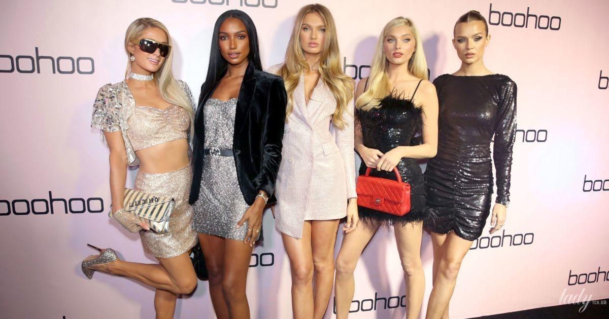 """В мини, блестках и перьях: """"ангелы"""" Victoria's Secret в компании Пэрис Хилтон потусили на вечеринке"""