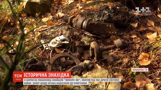 У Карпатах знайшли залишки німецького літака часів Другої світової війни