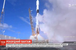 SpaceX запустила ракету Falcon 9 с 60 мини-спутниками, которые весят четыре тонны