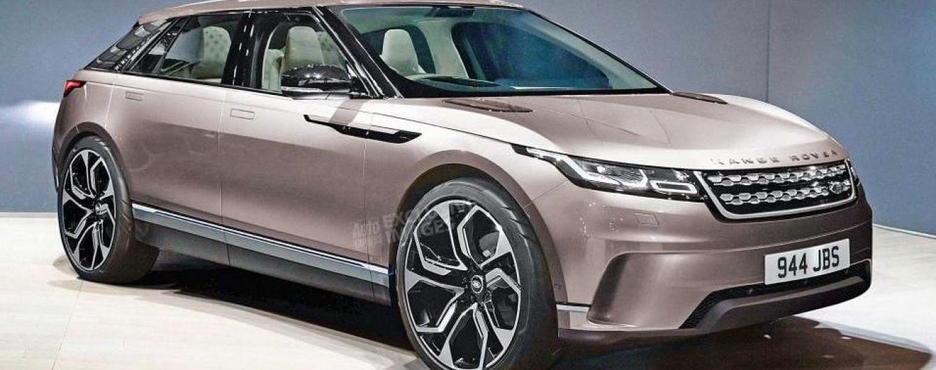 Электрический кроссовер Range Rover впервые показали на эскизе