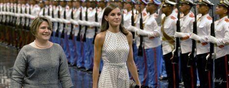 У гороховій сукні зі старої колекції: королева Летиція на офіційному прийомі на Кубі