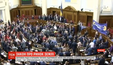 240 голосів за: Рада зі сварками і сутичками ухвалила закон про ринок землі у першому читанні