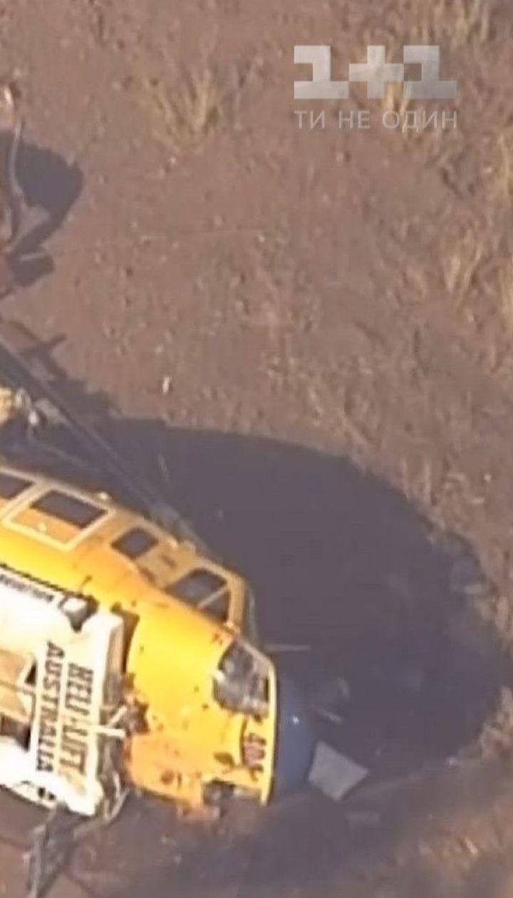 В Австралії під час гасіння пожежі упав ґвинтокрил вогнеборців