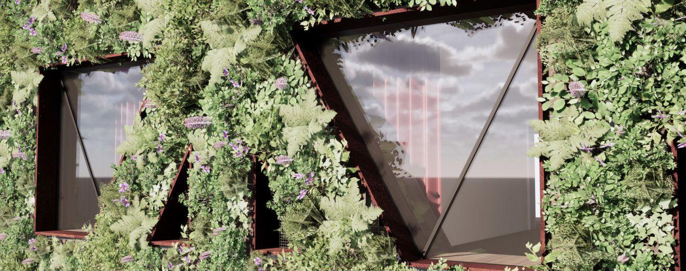 """В Лондоне построят необычное здание с самой большой """"зеленой стеной"""" в Европе"""