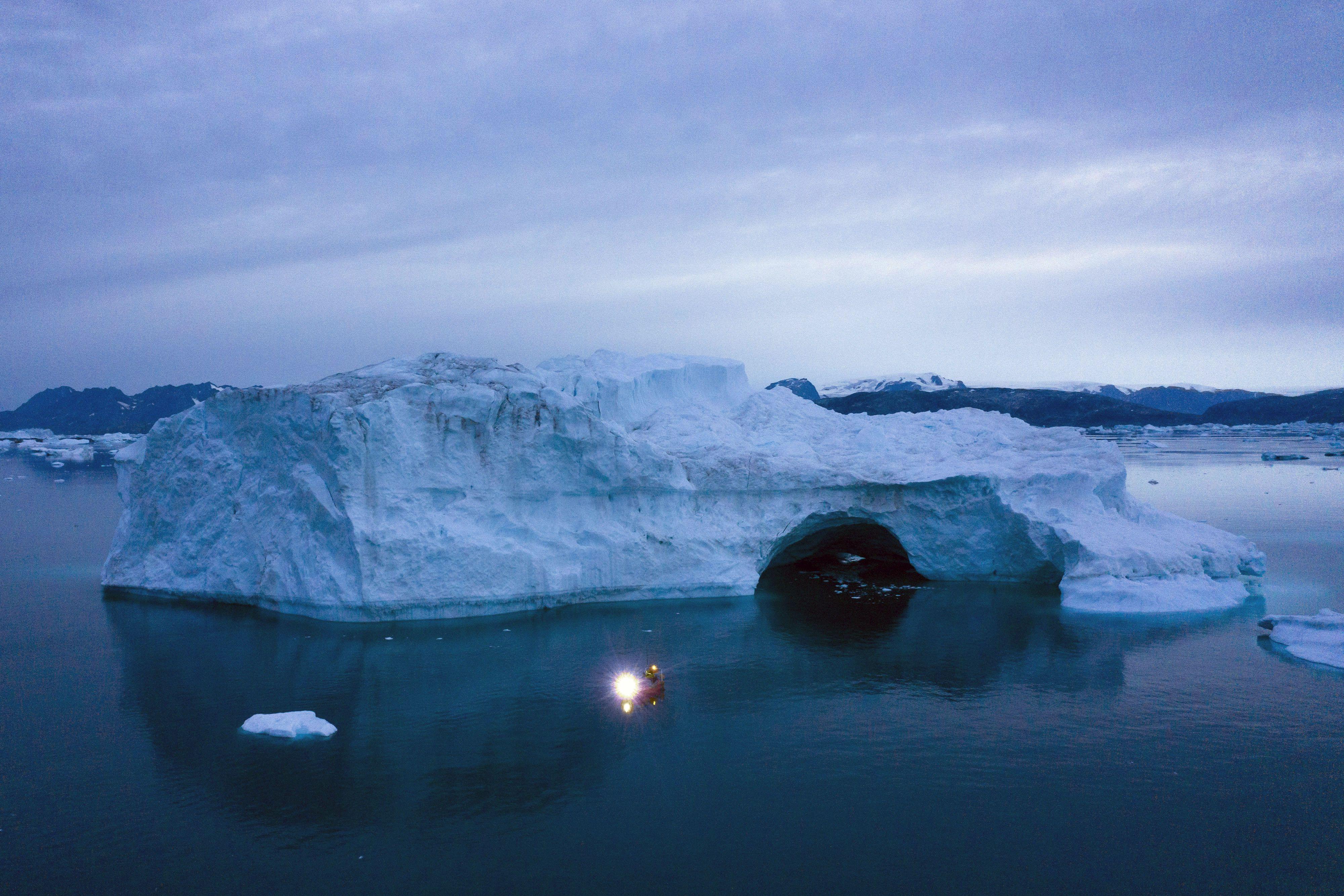 гренландія, танення льодовиків