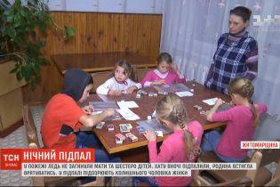 Багатодітна родина ледь не згоріла у власній оселі на Житомирщині