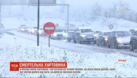 У Франції на 63-річного чоловіка, який чистив на дорозі сніг, упало дерево