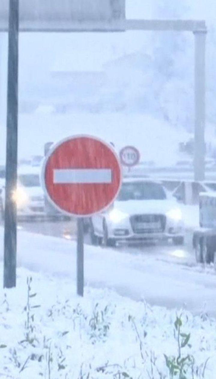 Во Франции на 63-летнего мужчину, который чистил на дороге снег, упало дерево