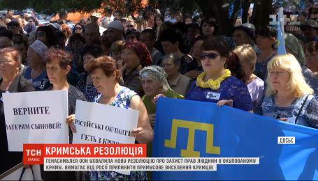 Генассамблея ООН приняла новую резолюцию о защите прав человека в оккупированном Крыму