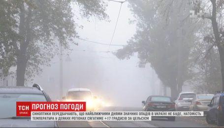 Без осадков и с туманами: погода в Украине на выходные