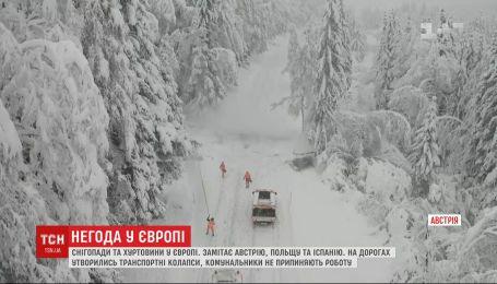 Метели бушуют в Европе: непогода наделала убытков в нескольких странах
