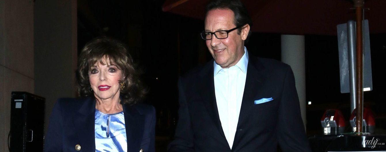 В красивом платье и за руку с мужем: 86-летняя Джоан Коллинз сходила в ресторан
