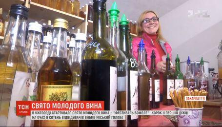 Фестиваль молодого вина стартовал на Закарпатье
