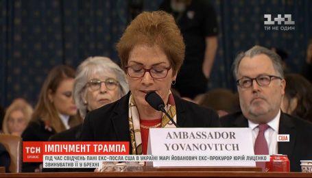 Юрій Луценко звинуватив Марі Йованович у брехні під час свідчень у Конгресі США