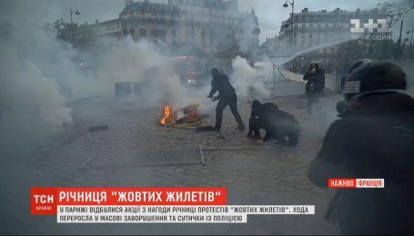 """У Парижі відбулися акції з нагоди річниці протестів """"жовтих жилетів"""""""