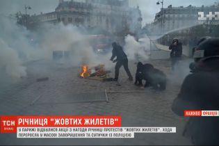 """В Париже прошли акции по случаю годовщины протестов """"желтых жилетов"""""""