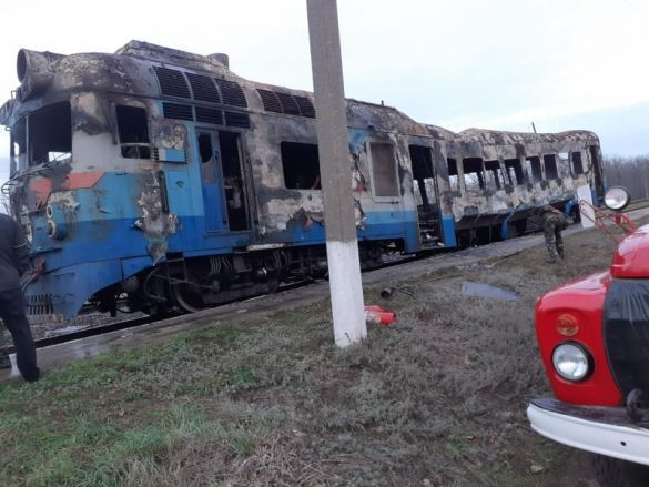 Пожежа у потязі на Миколаївщині 2
