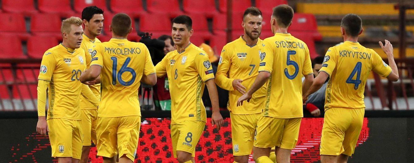 Сборная Украины на последних секундах избежала поражения в матче с Сербией